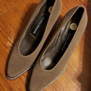 Evan Picone Dark Taupe Heels